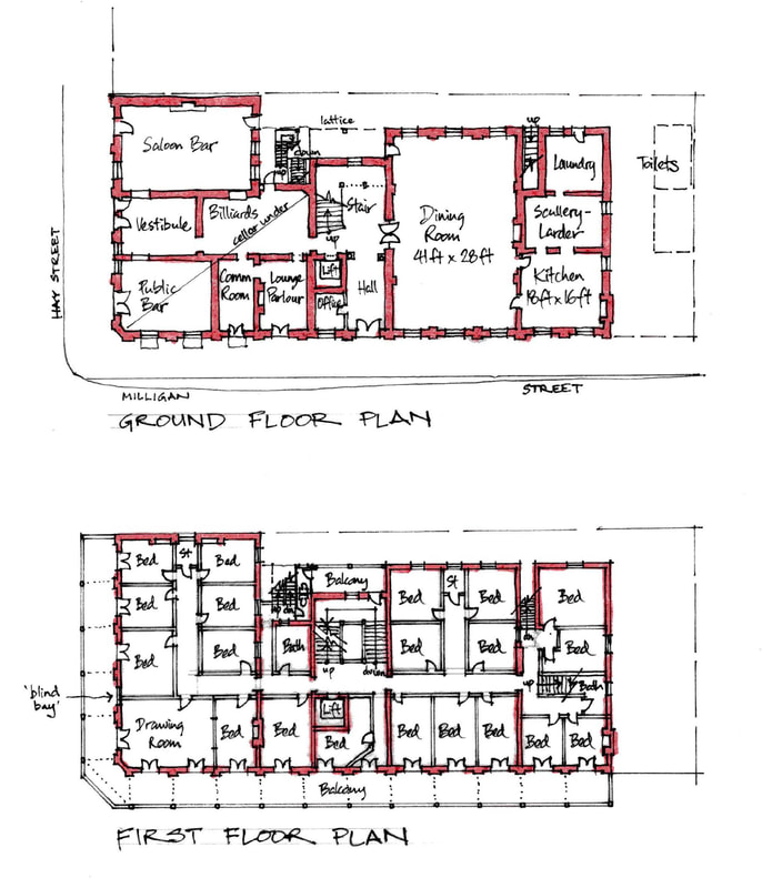 Floor Plan at The Melbourne Hotel in Perth